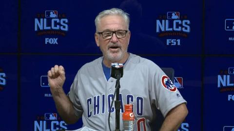 NLCS Gm4: Maddon excited to even the series at 2