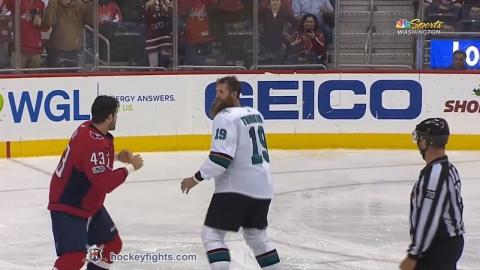 Joe Thornton vs Tom Wilson Dec 4, 2017