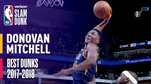 Donovan Mitchell Best Dunks of the Season | 2018 Dunk Contest Participant