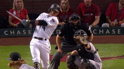 NL WC: Marte hits two triples and a single