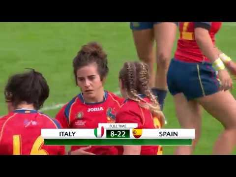 HIGHLIGHTS: Spain beat Italy at Women's Rugby World Cup