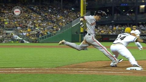 SF@PIT: Pirates' double play stands after challenge