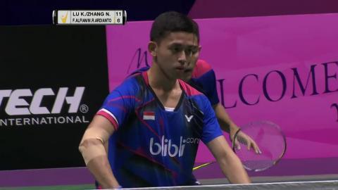 Macau Open 2016   Badminton SF M4-MD   Lu/Zhang vs Alf/Ard