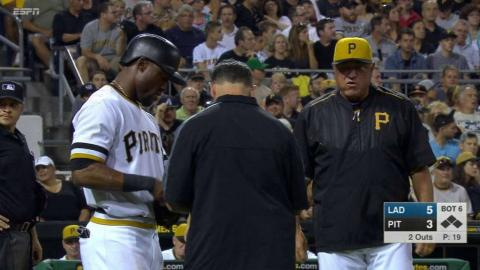 LAD@PIT: Marte hit by Nicasio pitch, remains in game