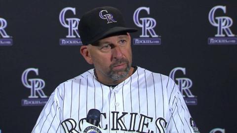 SF@COL: Weiss on Arenado breaking franchise record