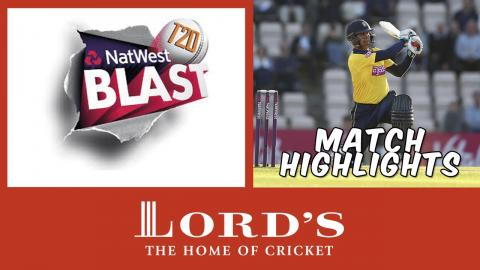 Owais Shah hits out in Twenty20 cricket | NatWest t20 Blast highlights