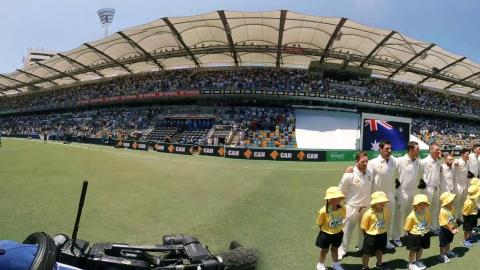 360: Anthem ceremony at the Gabba