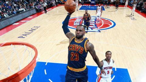 LeBron James Posts Triple-Double in Detroit   03.09.17