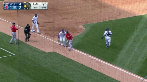 WSH@CHC: Cubs turn Gio's bunt into double play