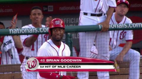 CLE@WSH: Goodwin notches first career hit in 8th