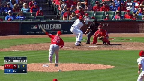 LAA@TEX: Reyes earns first win since 2011