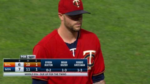 BAL@MIN: Pressly retires Smith to end the threat