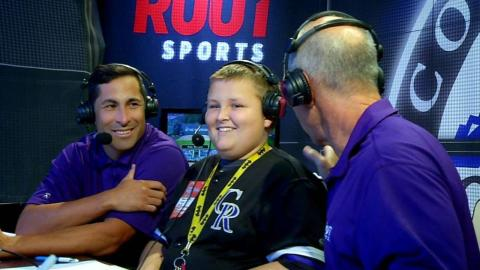 WSH@COL: Young fan joins the Rockies broadcast
