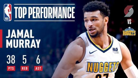 Jamal Murray Scores a CAREER-HIGH 38 Pts vs. Blazers | January 22, 2018