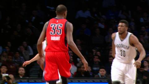 Kevin Durant and Brook Lopez Square Off in Brooklyn