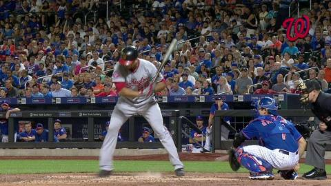 WSH@NYM: Call stands after Robinson is plunked