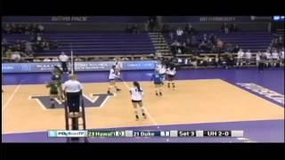 Rainbow Wahine Volleyball 2014 - #23 Hawaii Vs #21 Duke