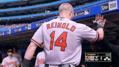 BAL@TOR: Reimold clubs a solo homer in the 9th