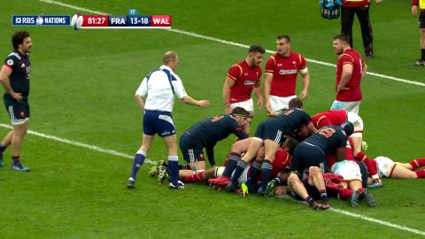 Repeat infringement results in Yellow card for Samson Lee! | RBS 6 Nations