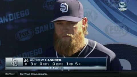 CLE@SD: Cashner discusses pitching, Spring Training