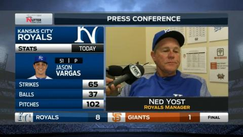 KC@SF: Yost on the Royals' big 6th inning in win