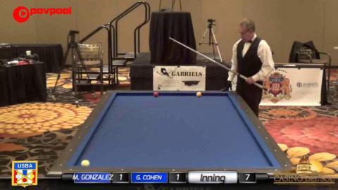 "8 • Mercedes GONZALEZ vs Gary COHEN • 2017 USBA / Gabriels 3 Cushion ""B"""