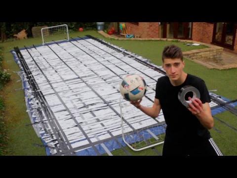 Backyard DUCT TAPE Football Pitch!!