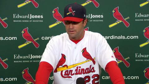 CIN@STL: Matheny discusses pitching, Red's 16-hit day