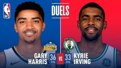 Kyrie Irving (33 Pts) and Gary Harris (36 Pts) Duel in Boston | December 13, 2017
