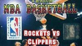 Tecmo NBA Basketball (1992) - NES - Rockets Vs Clippers - EVQNED