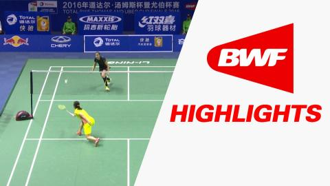 TOTAL BWF Thomas & Uber Cup Finals 2016 | Badminton-Day 3/S3- Uber Cup Grp A CHI vs SPA – Highlights