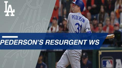 Pederson's three extra-base hits in four WS games