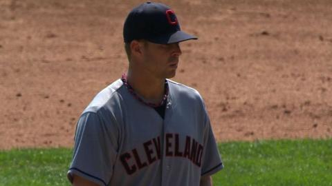 Kluber earns his first Major League win in 2012