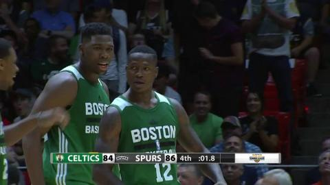 Terry Rozier Hits the Late 3 Pointer to Give Boston the Edge
