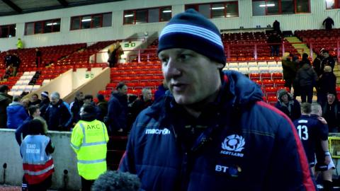 Scotland Under 20's Head coach John Dalziel on the victory over England