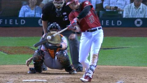 SF@ARI: Drury collects four hits against the Giants