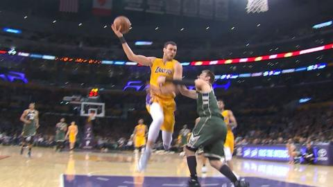 Larry Nance Jr. Steal, No-Look, Over-the-Head Trick Shot | March 17, 2017