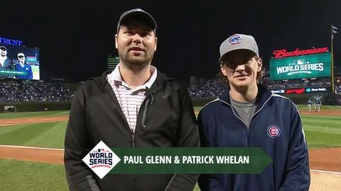WS2016 Gm4: Bases Coded winners honored before game