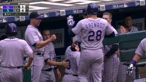 COL@SEA: Arenado plates the first run with a sac fly