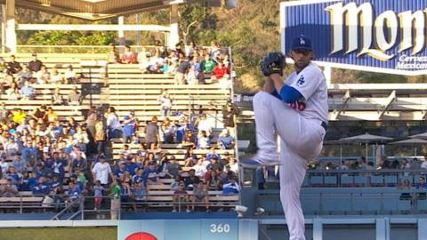 MIL@LAD: Bolsinger allows two runs, fans six Brewers