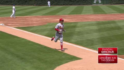 STL@CHC: Grichuk launches a solo home run
