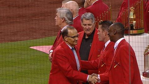 CHC@STL: Cardinals legends honored before game