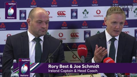 Joe Schmidt and Rory Best after Ireland v Italy | NatWest 6 Nations
