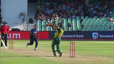 South Africa vs Sri Lanka - Faf du Plessis Wicket