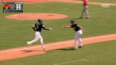 BAL@PIT: Marte hits a two-run shot to left field
