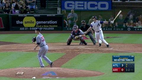 ATL@ARI: Wisler loses no-hit bid in the 7th inning