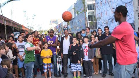Jerome and the Fans Get PUMPED for the NBA House!