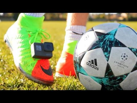 GoPro on my FOOTBALL BOOTS!! (Crazy Footage)
