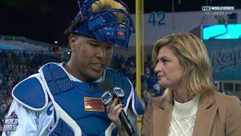 WS2015 Gm2: Perez on Cueto's outing, playing in WS