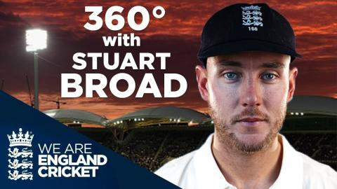 360 Video: Walk Out To Adelaide Oval Pitch With Stuart Broad - The Ashes 2017/18